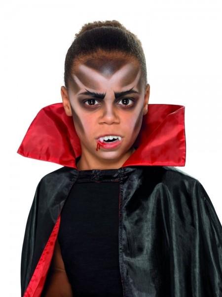 Vampir Schminkset mit Zähnen für Kinder