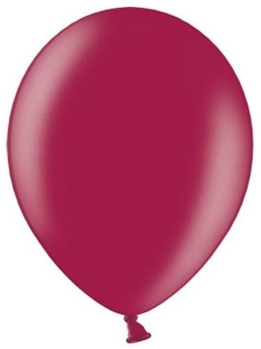 50 Partystar metallic Ballons brombeere 30cm