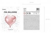 Vorschau: Herzilein Folienballon roségold 45cm