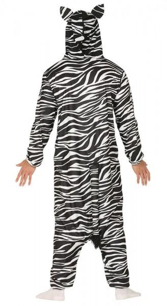 Kuscheliger Zebra Overall für Erwachsene