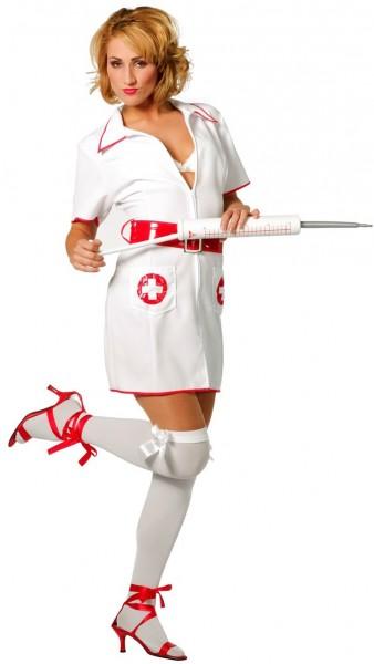 Krankenschwester Katja Kurzes Kleid
