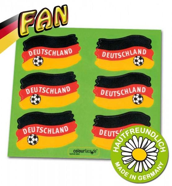 6 Deutschland Fußball Hautsticker