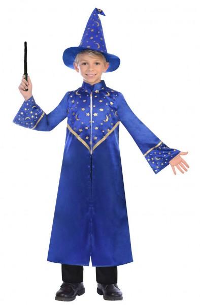 Blaues Zauberer Kinderkostüm Magus