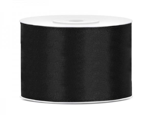 25m Satin Band schwarz 5cm breit