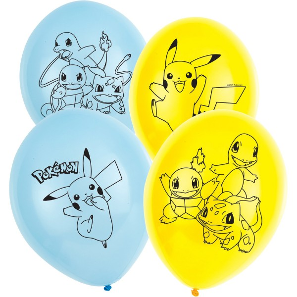 6 palloncini in lattice Pokémon Master da 28 cm