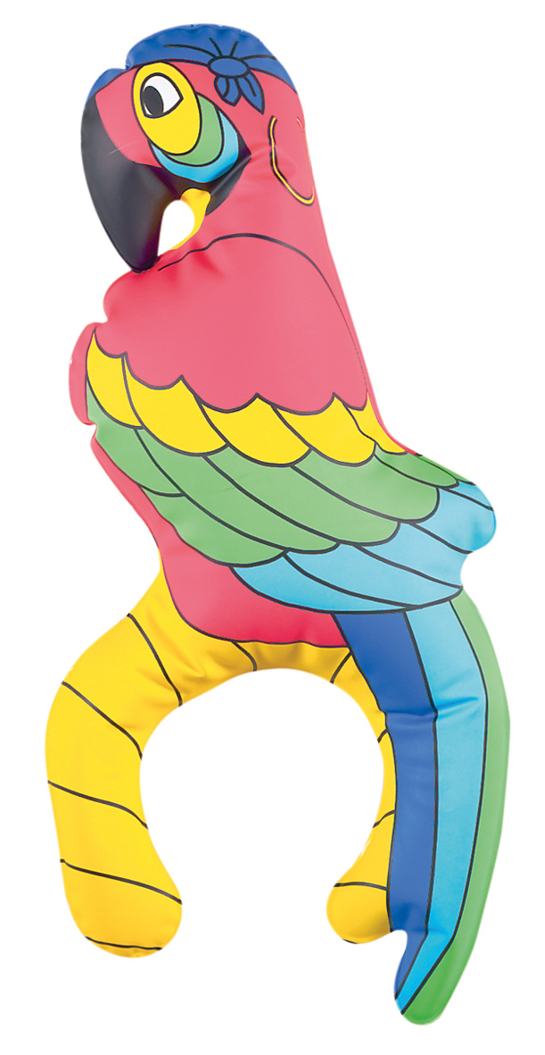 Inflatable Pirate Parrot For The Shoulder