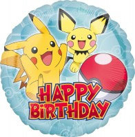 Folienballon Pichu & Pikachu Birthday