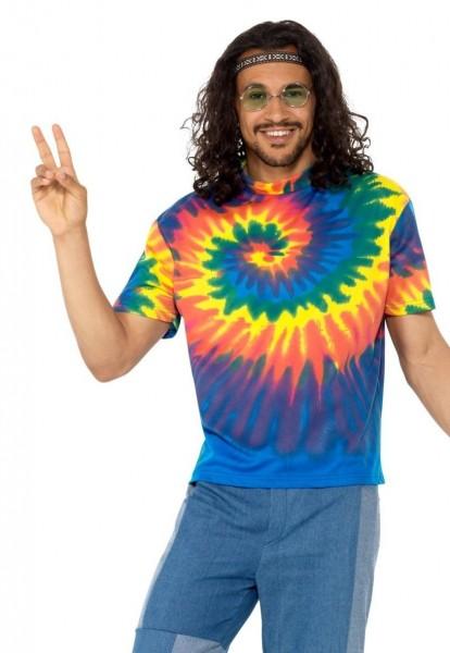 Hippie men's shirt batik look