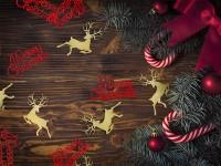 Rotes Merry Christmas Folien-Konfetti 3g