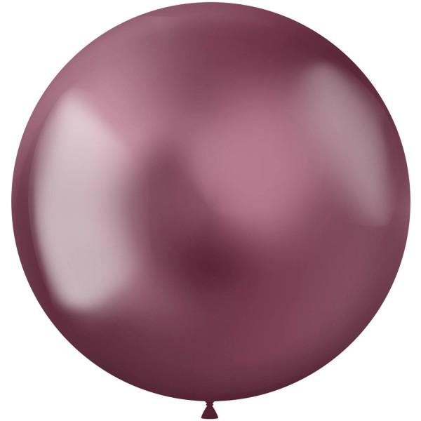 5 Shiny Star XL Luftballon brombeere 48cm