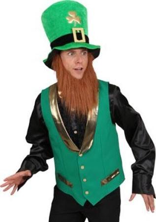Grün-goldene St. Patricks Weste