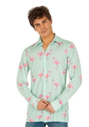 Flamingo Herrenhemd türkis