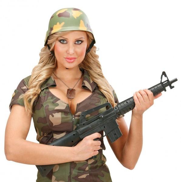 Militärhelm Mit Camouflagemuster