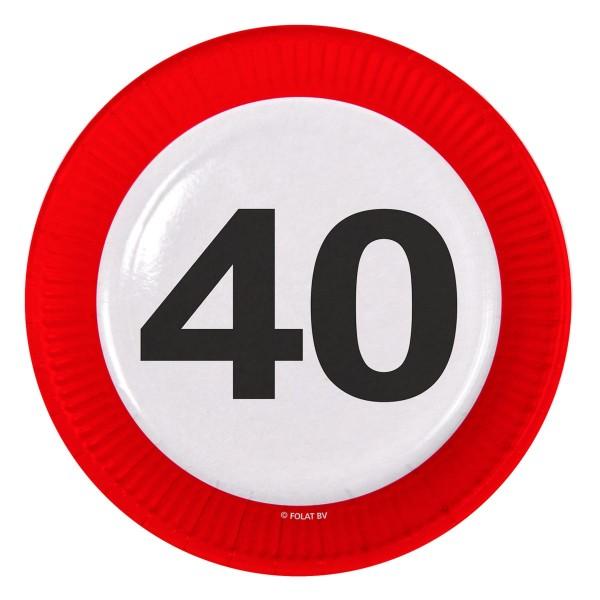 8 panneaux de signalisation 40 assiettes en papier 23cm