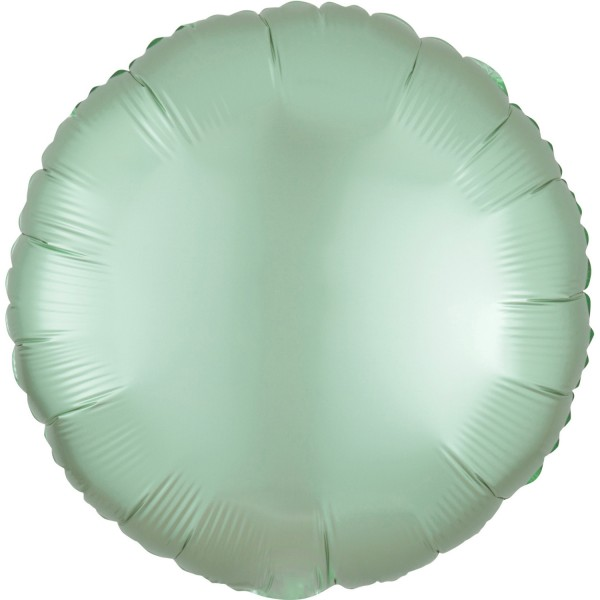 Satin foil balloon mint green 43cm