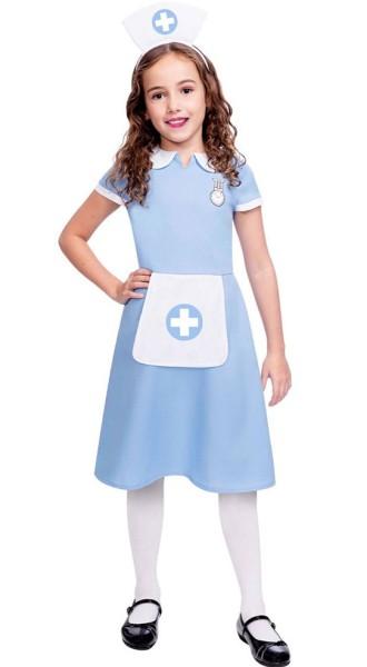 Krankenschwester Kostüm für Mädchen blau