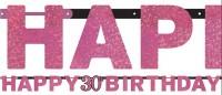 Pink 30th Birthday Girlande 2,13m