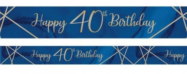 Luxurious 40th Birthday Banner 2,7m