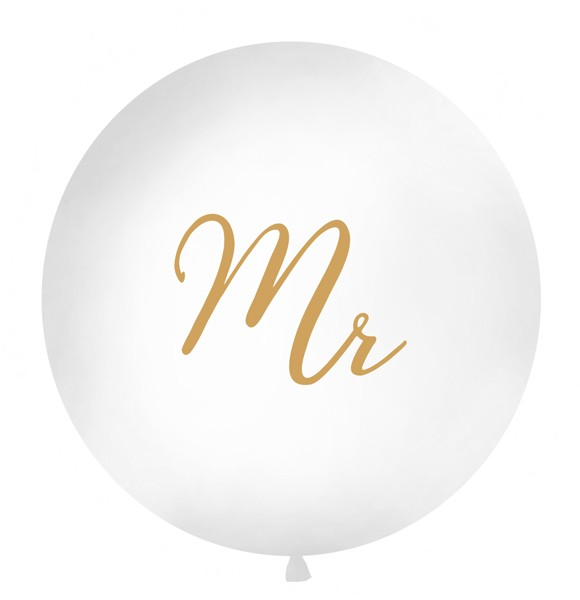 Mr XL Ballon gold 1m