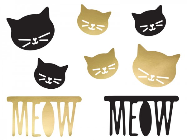 Katze Kiki Streudeko 8-teilig