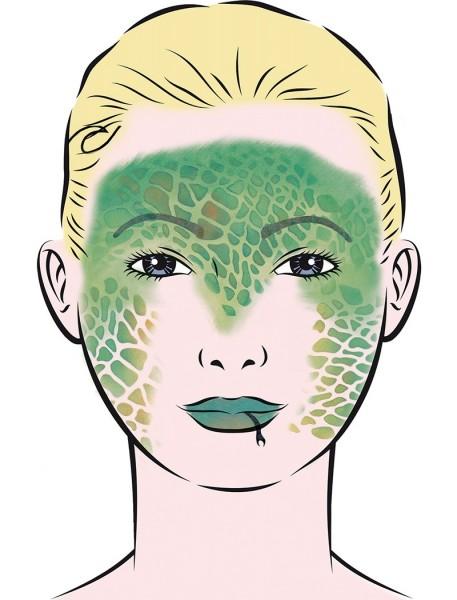 Reptil Schminkschablone
