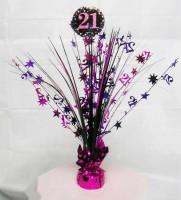 Pink 21st Birthday Tischfontäne 46cm