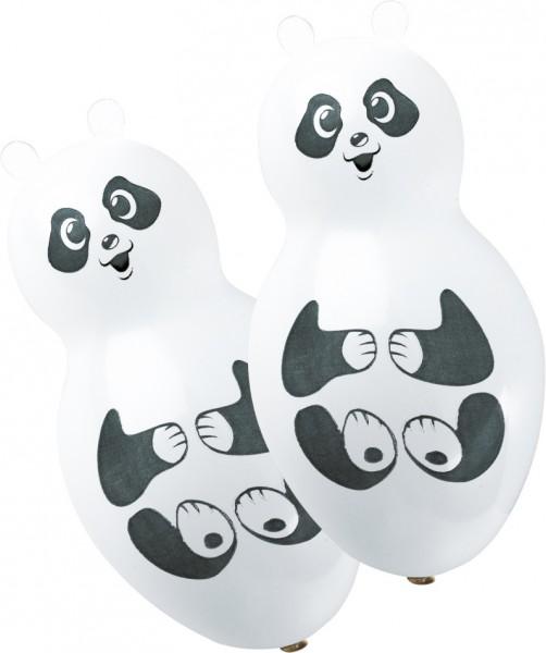 4 Süße Panda Figuren-Luftballons