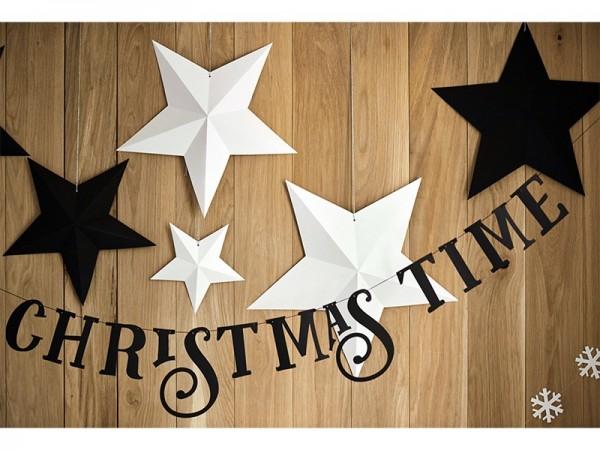 Banner Christmas Time Black