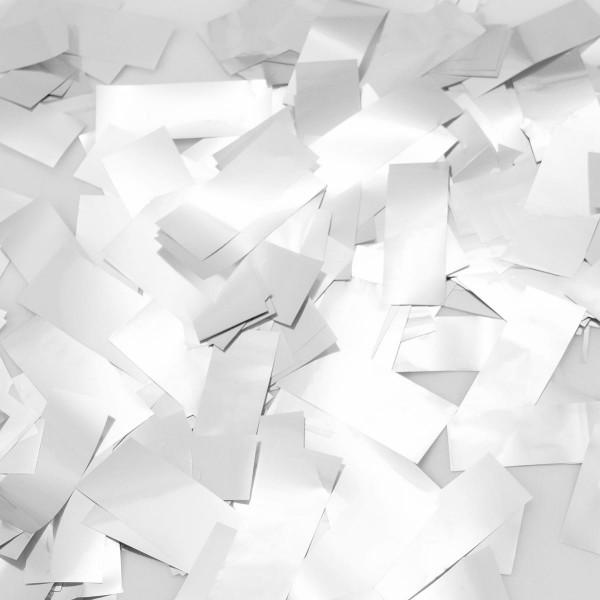 Party popper confettis blanc pluie