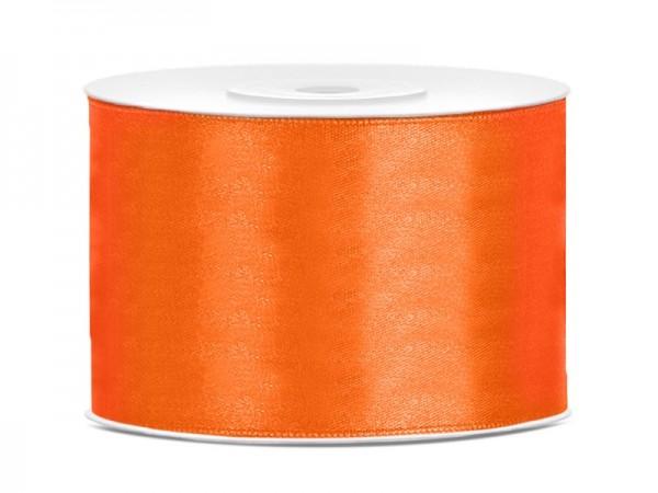 25m satin ribbon orange 5cm wide