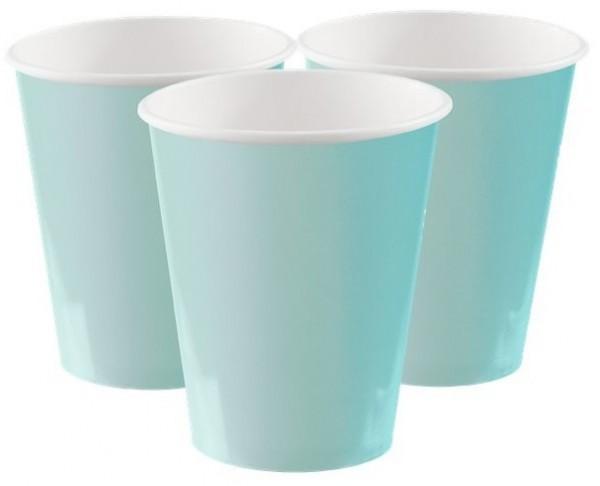 14 gobelets en papier turquoise menthe Boleo 270ml