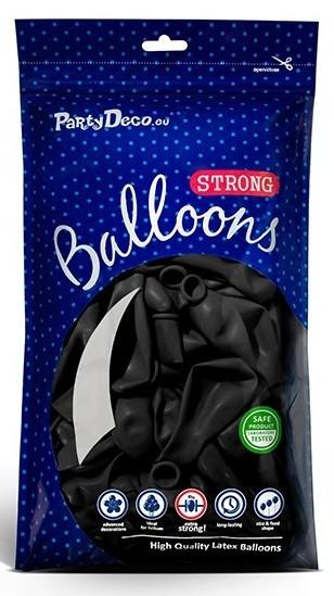 100 balonów Partystar czarne 27 cm