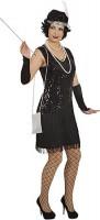 Schwarzes 20er Jahre Charleston Kleid
