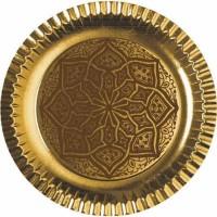 6 Partyteller Golden Ornaments 29cm