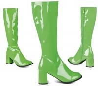 70er Grüne Lackstiefel