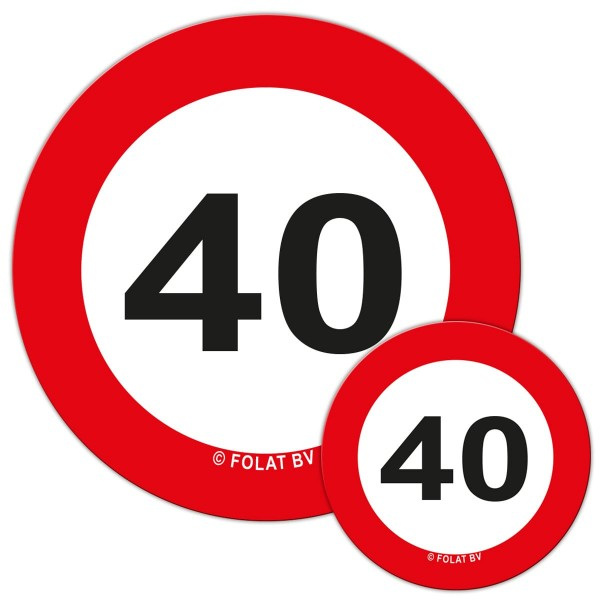 Traffic sign 40 Streudeko