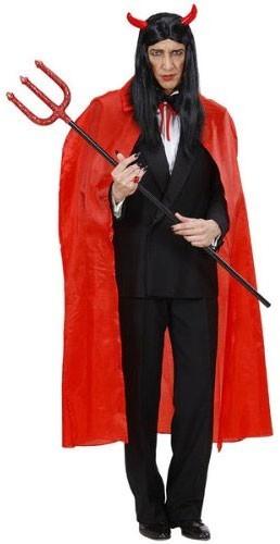 Halloween cloak devil in red 130cm
