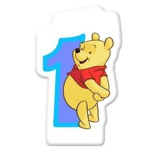 Winnie Puuh Geburtstagsparty Nummer 1 Tortenkerze 5cm