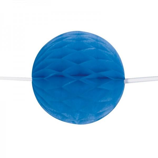 Guirlande de boules nid d'abeille bleu royal 213cm