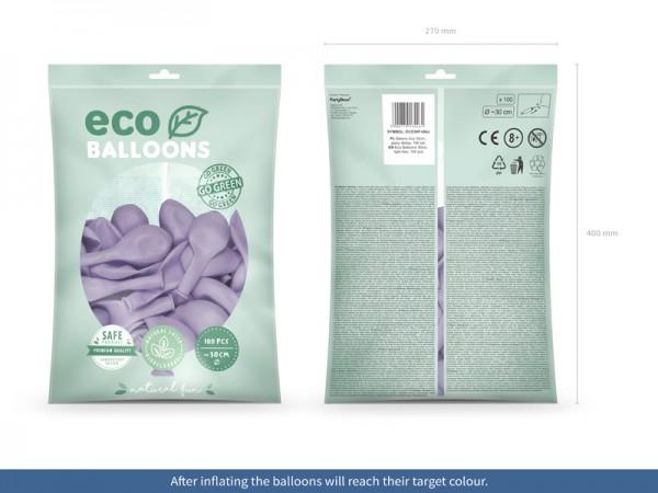 100 eco pastel balloons lavender 30cm