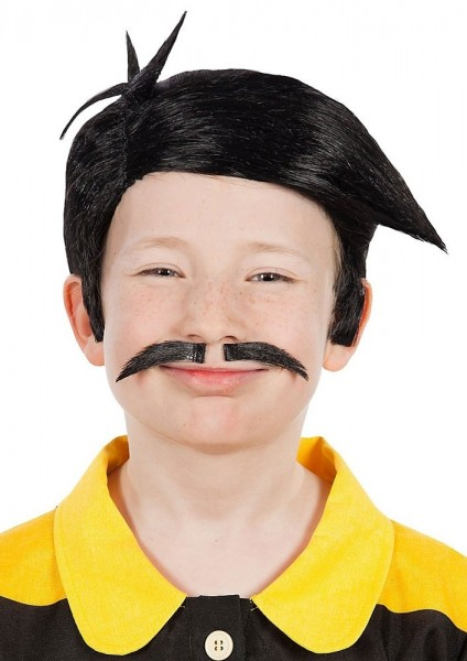 The Daltons Kinder Perücke mit Bart