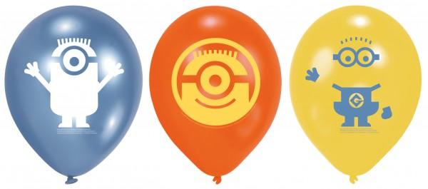 6 Minion Trio Luftballons 23 cm
