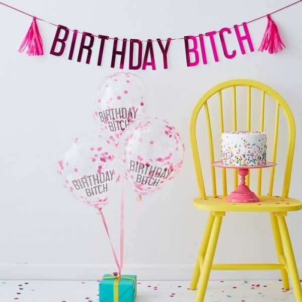 Naughty Birthday Bitch Partyset