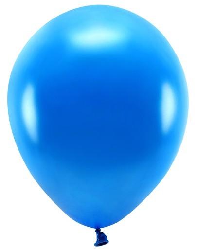 100 eco metalliske balloner kongeblå 26cm