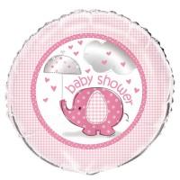 Folienballon Elefanten Baby Party rosa