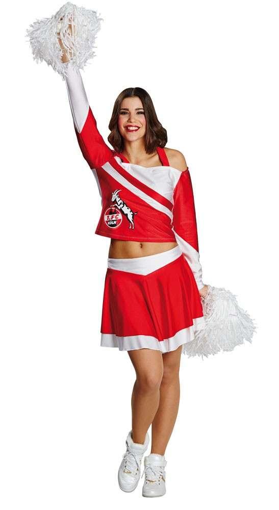 1 Fc Koln Fan Cheerleader Kostum Fur Damen Party De