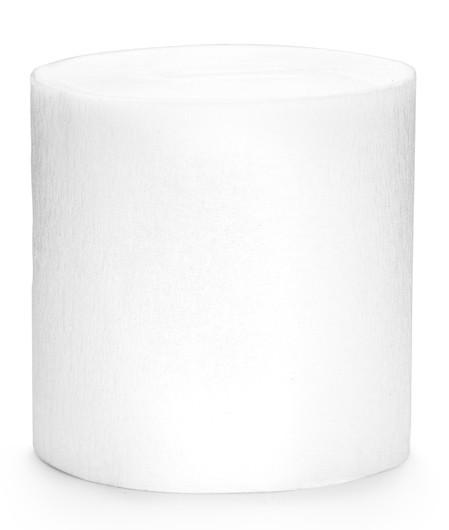 Papier crépon blanc 10 m, 4 parties
