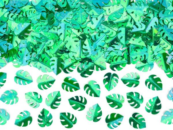 Hojas verdes Monstera decoración 15g