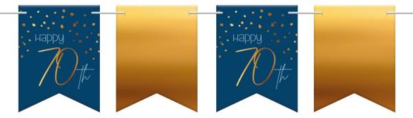 70. Geburtstag Wimpelkette 6m Elegant blue