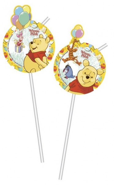 6 Winnie Puuh Strohhalme Honey 24cm